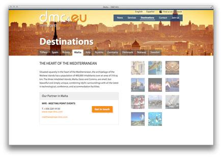 Destinationsseite auf dmc4eu.com