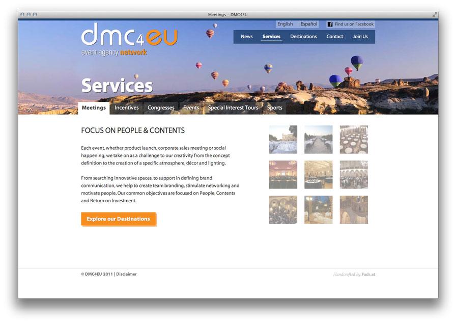 Servicesseite auf dmc4eu.com