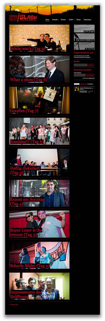/slash Startseite mit Fotos von Hanna Pribitzer