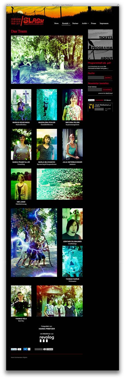 /slash Teamseite auch mit Fotos von Hanna Pribitzer