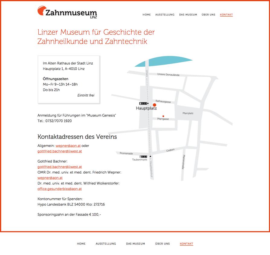 Zahnmuseum Kontaktseite